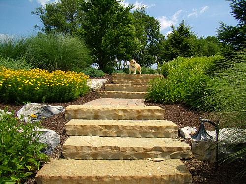 Entrance- Stone Step Treads