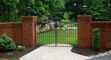 Entrance - Entry gate and brick piers